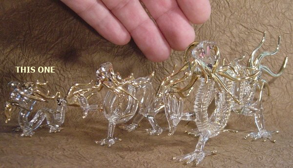 Four Clawed Dragon, Glassware, Handmade in Thailand