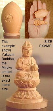 Size of Miniature Capped Statue