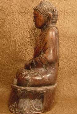 Tathagata from China, Wooden, Hand Carved