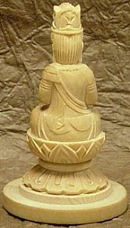 Dainichi Buddha (Miniature Version), wood, hand-crafted