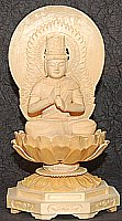 Sitting Dainichi Buddha, Large Wood Statue