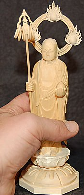 Jizo - 6 wood rings, Japanese Cypress Wood