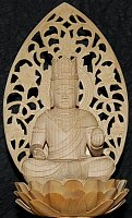 Large Kokuzo Bosatsu, Sitting, Wood