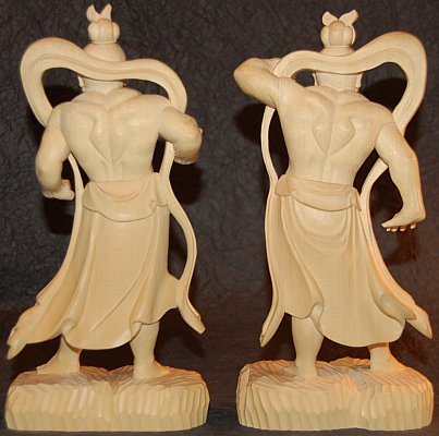 Back View, Nio Wood Statues, Buddha Statues from Japan and China