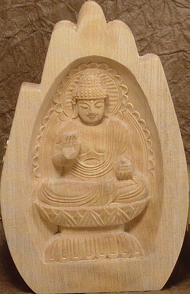 Yakushi Buddha of Medicine and Healing, Wooden Buddha Statue